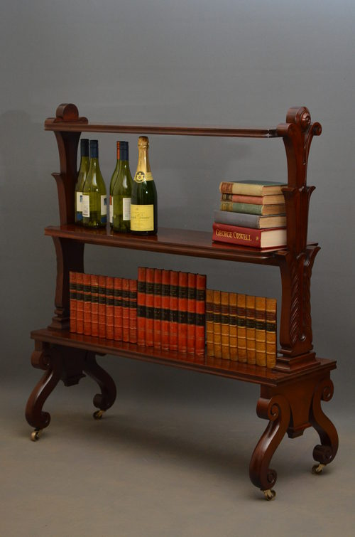 William IV 3 Tiere Bookcase / Stand