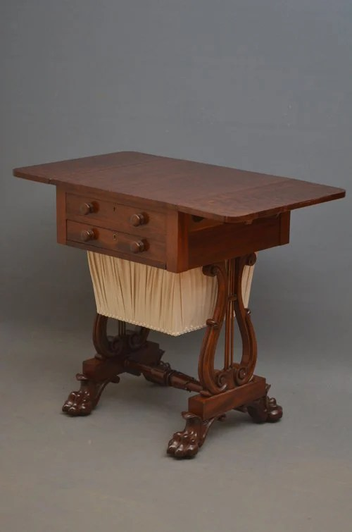 Fabulous Regency Work Table in Mahogany