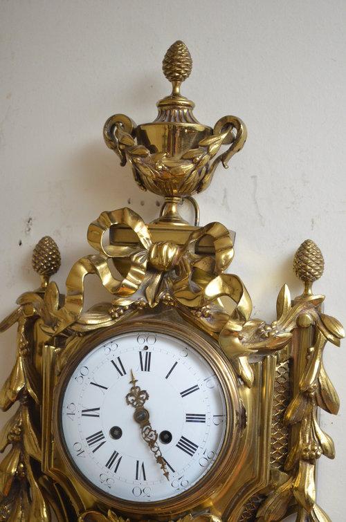 XIX Century Gilt Metal Cartel Clock - Wall Clock