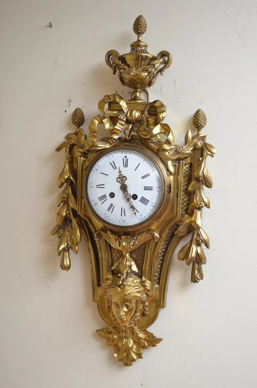 XIX Century Gilt Metal Cartel Clock - Wall Clock