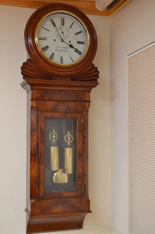 Exceptional Regency Wall Clock by K.D Sykes
