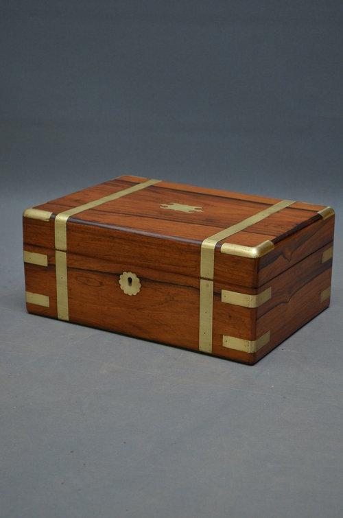 Attractive Victorian Rosewood Jewellery Box