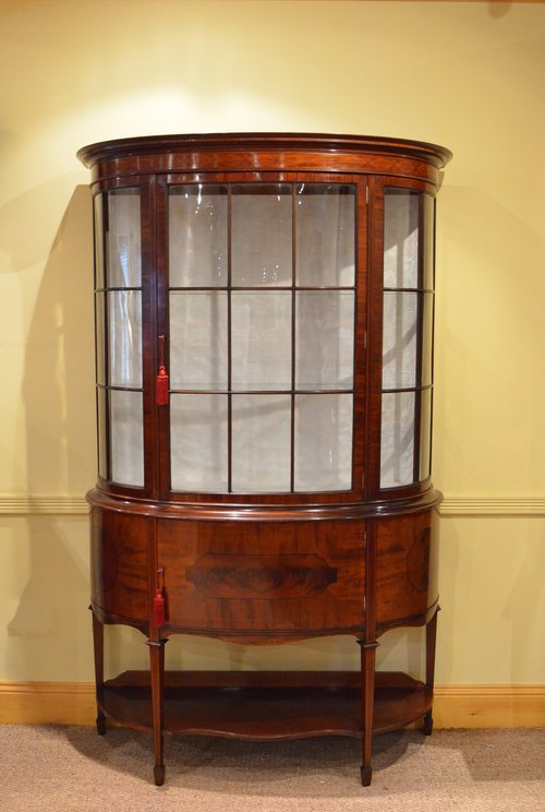 A Grand Edwardian Mahogany Display Cabinet