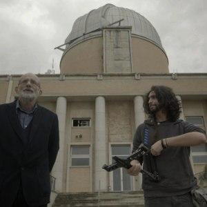 Felice Farina e Nicholas di Valerio nel film documentario Conversazioni Atomiche
