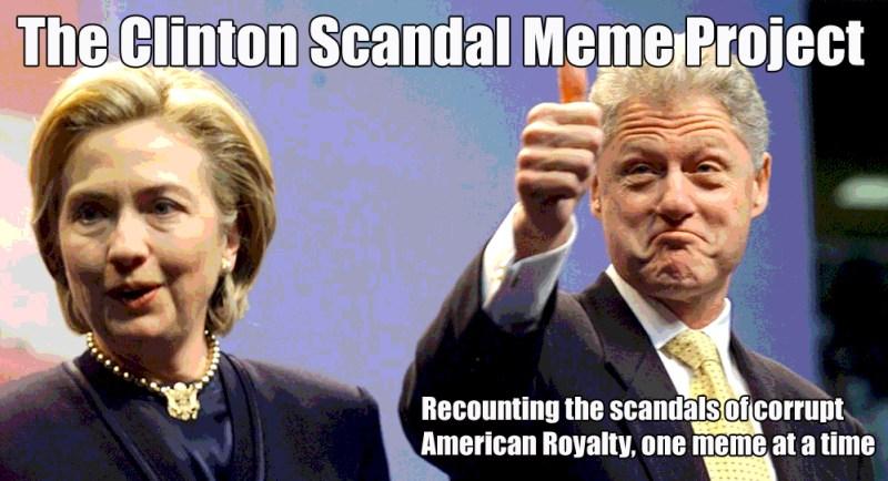 Clinton Scandal Meme Project