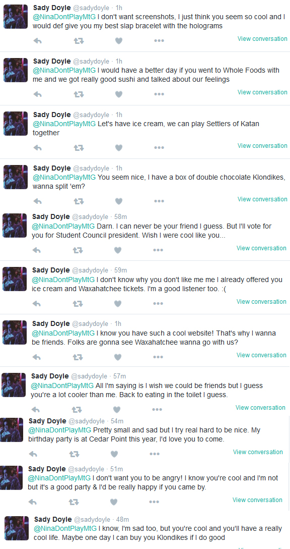 My Saturday Night With Sady Doyle Her Tweets Panel 1 JPG
