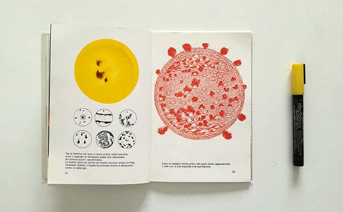 dibujar el sol-Bruno Munari-manchas solares