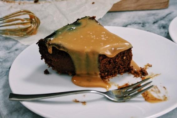 Chocolade cheesecake met salted caramel