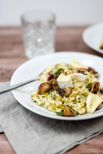 Romige risotto met brie en paddenstoelen