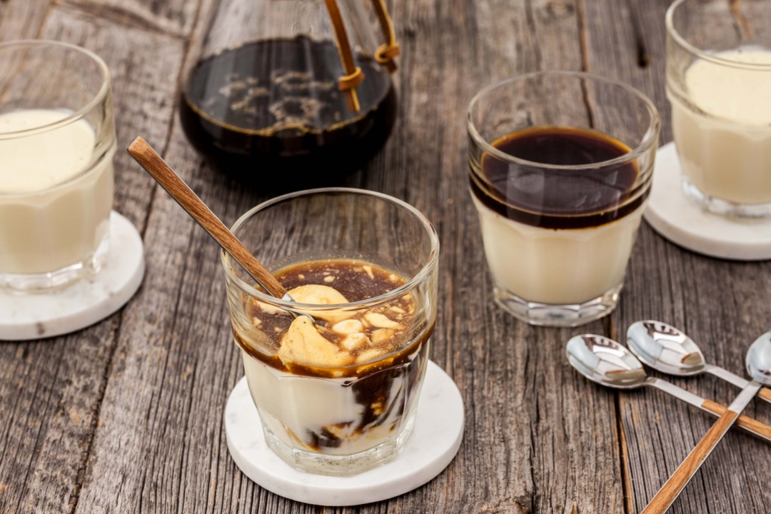 Pannacotta affogato