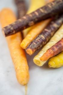 Eendenborstfilet met clementinesaus & regenboog wortels