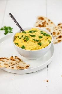 Hummus met geroosterde pompoen
