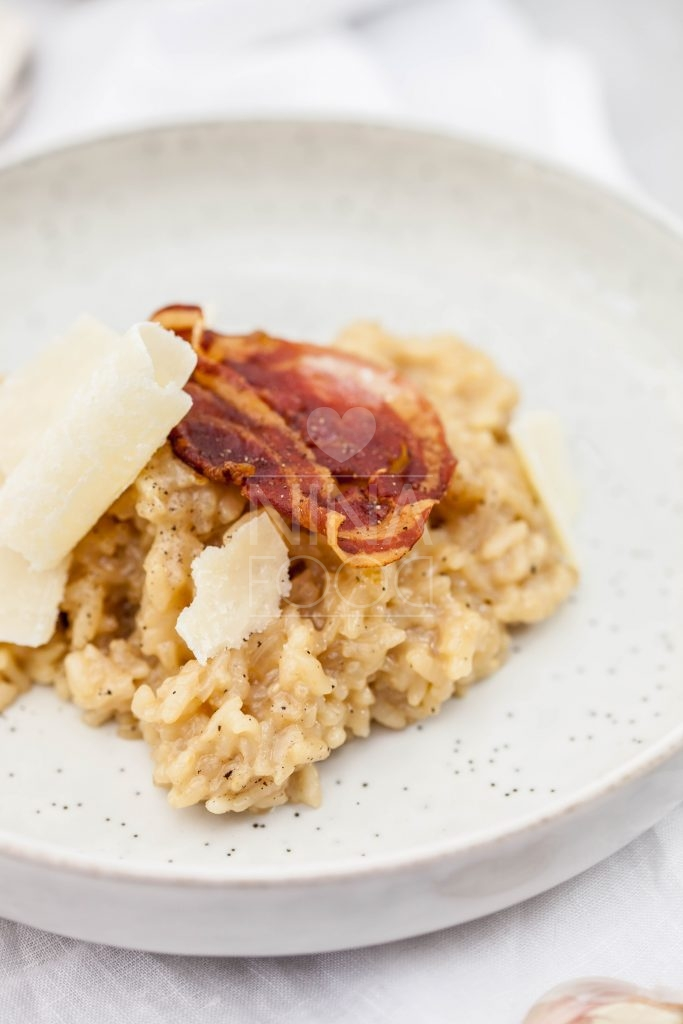 Bierrisotto met krokante pancetta & parmezaan