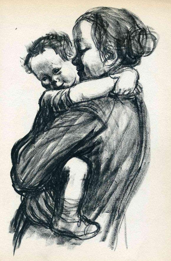 Mother and child by Käthe Kollwitz
