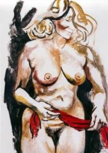 nudo-con-drappo-rosso- guttuso