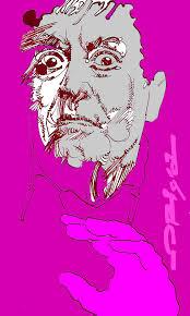 L'attore Carmelo Bene in una grafica