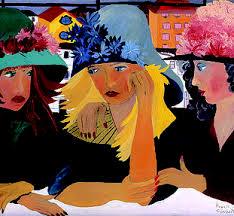 Donne sedute al bar