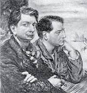 Alberto Savinio col fratello Giorgio De Chirico