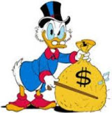 Paperon de Paperoni, cartoon disneyano simbolo del ricco spilorcio