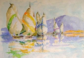 Walter Sabatelli: barche a vela