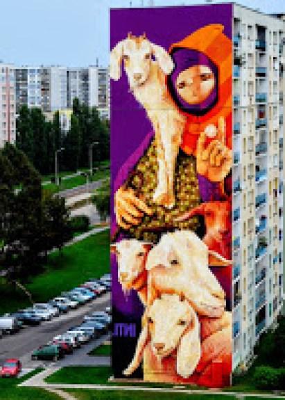 Inti Castro, opera realizzata in coccasione del festival Urbanforms Polonia