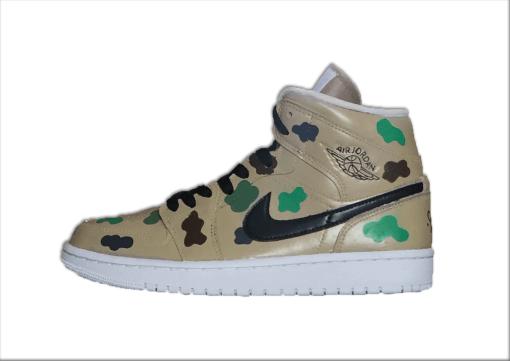 9ho_camouflage5Nike Air Jordan 1 personnalisée au couleur camouflage