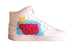 Nike custom ThrowUp on the side