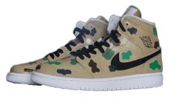 Nike Air Jordan 1 personnalisée au couleur camouflage