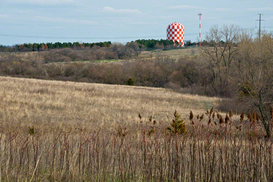 Looking South to the Checkered Storage Tank -- Late Afternoon Light