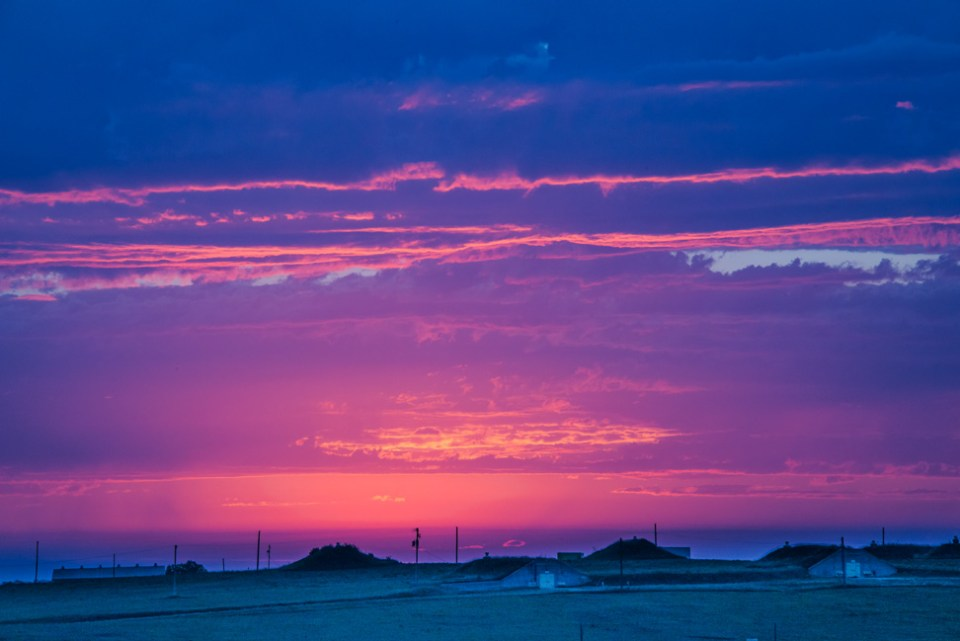 Fiery Sunrise Across the Bunkers