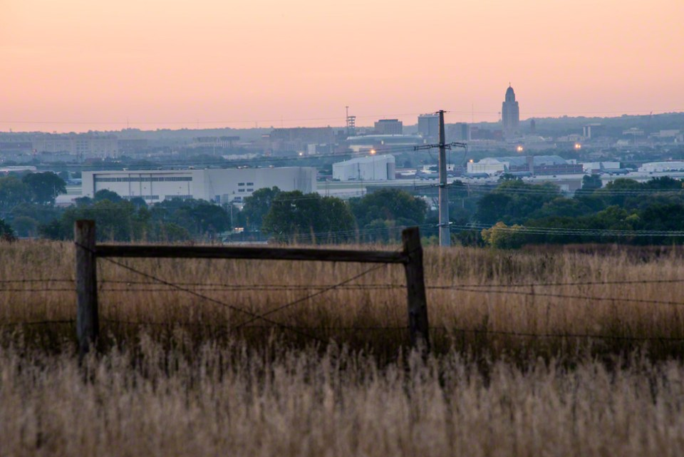 From the East Fence to the Capitol at Daybreak