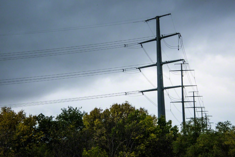 The Powerlines Under a Stormy Sky