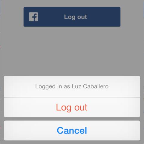 กรณีกดปุ่ม logout facebook ของ ios แล้วเกิด error