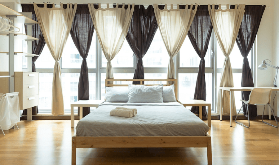 4 Things You Can Do if You Have the Back of the Bed or a Headboard Against a Window for Good Feng Shui