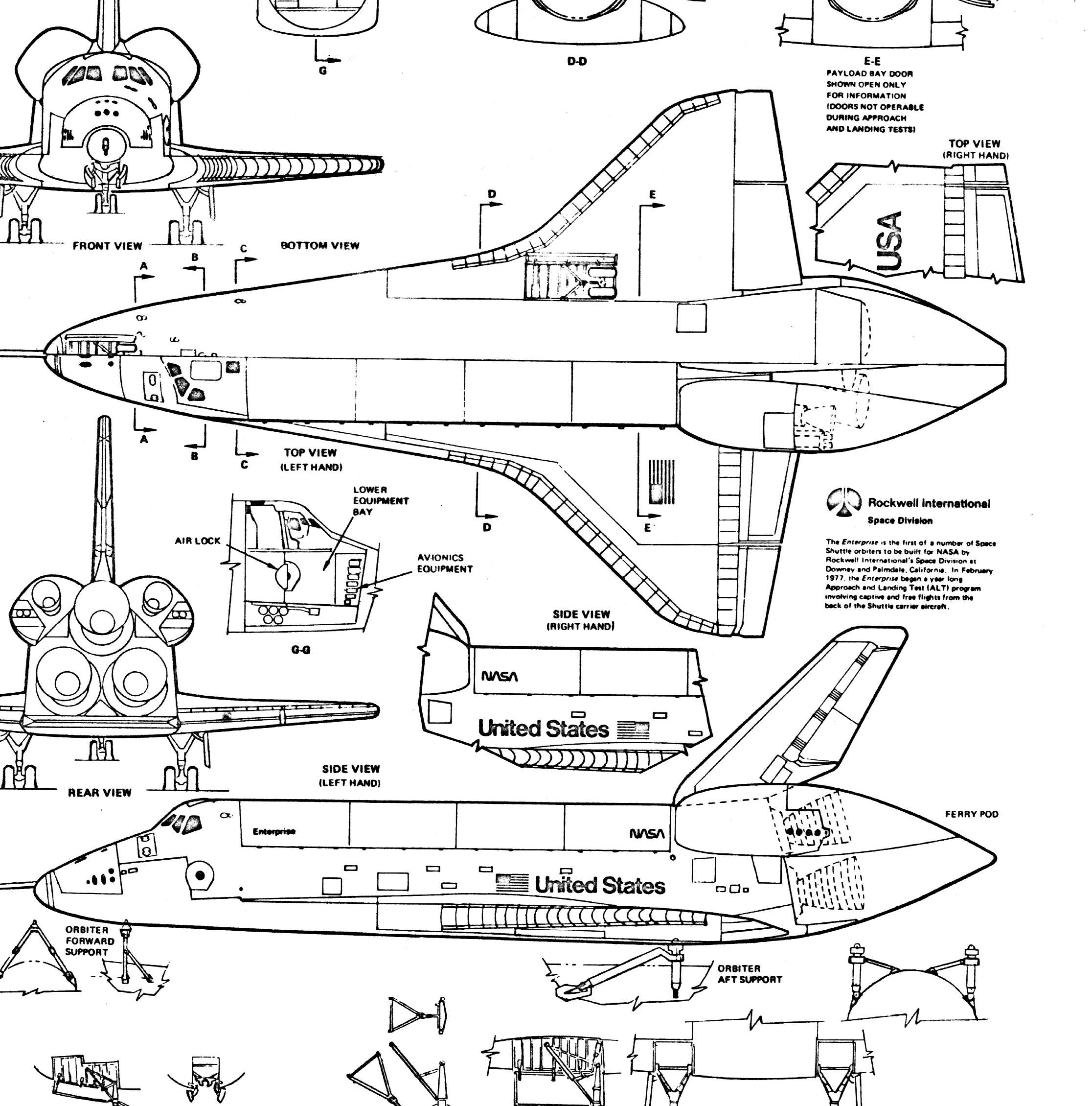 Orbiter Space Shuttle Blueprints