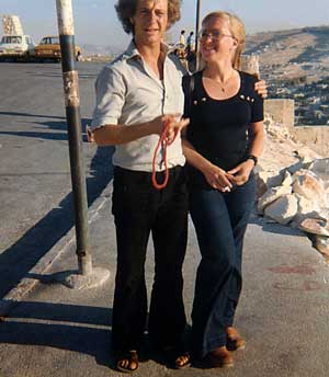 Tedy and Nini in Jerusalem, July 1974