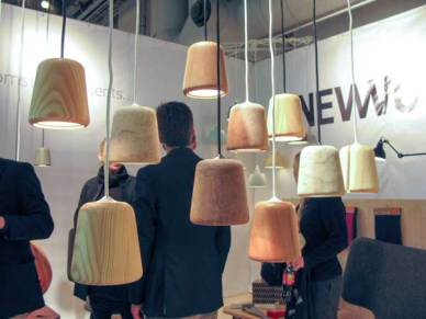 Wooden lamps. Not giving out all that much light though…