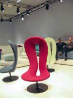 Oddly formed hiding chairs.