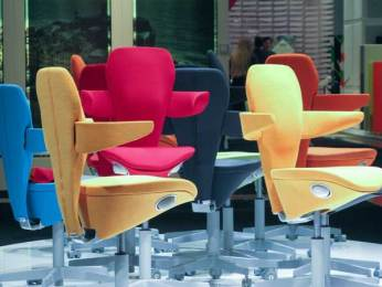 Colorful chairs made for women it said. NOT comfortable at all.