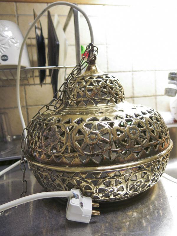 lampa, lamp, brass. mässing
