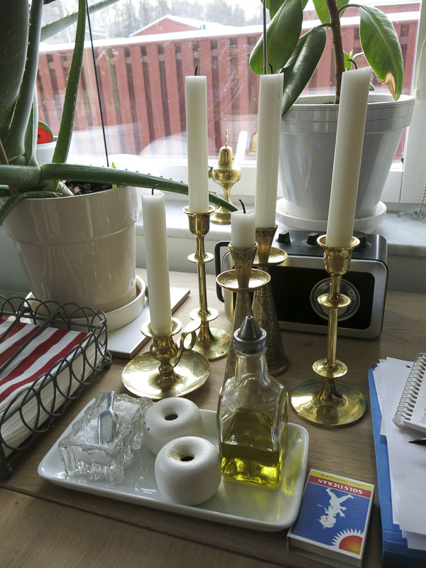 brass, candle holders