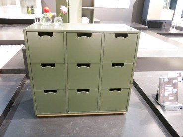 """Chest of drawers """"Snow"""", now in green"""