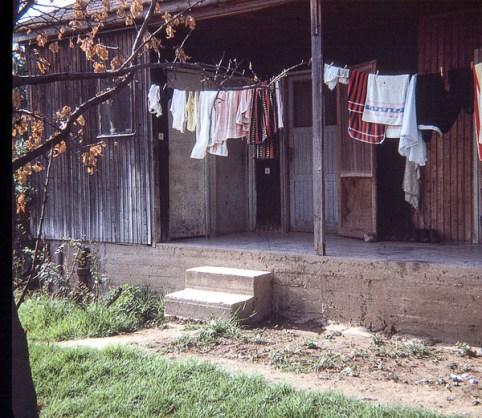 Washing line outside the girls house where I lived.