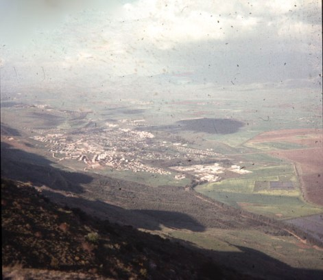 Kiryat Shmona seen from above the mountain.
