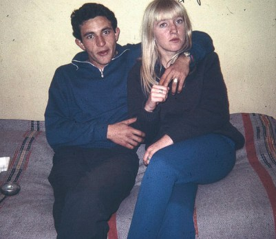 Dany (Daniel Elkouby) and me. He was my boyfriend for a couple of years.