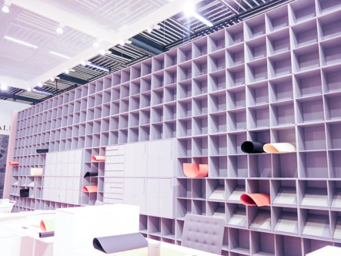 A whole wall of shelves.