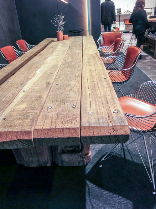 Table by rough planks