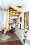 The stairs to upstairs.