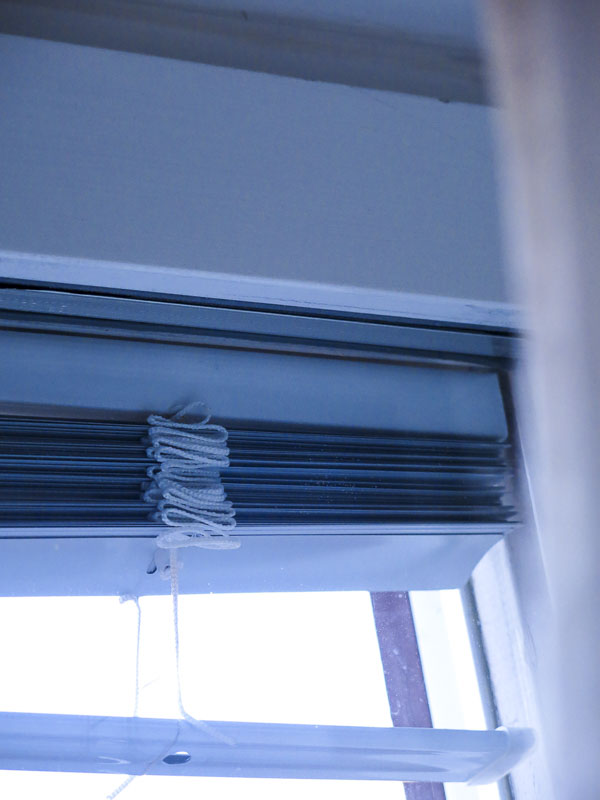 Bedroom blinds.