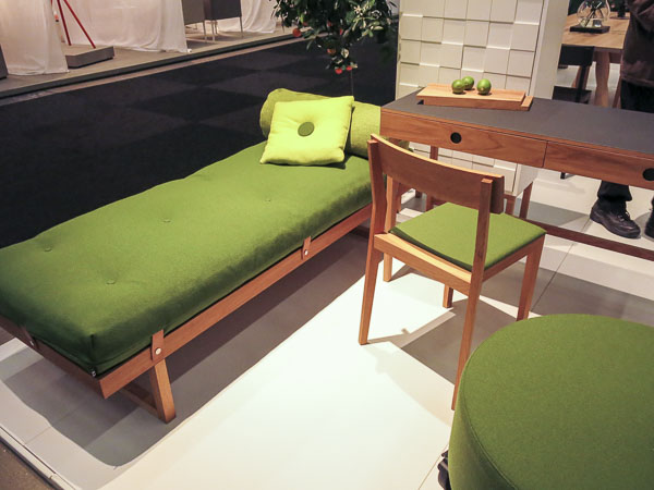 The obligatory daybed. This year in green.